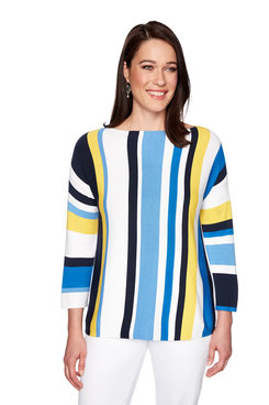 Image: Stripe Pullover Sweater