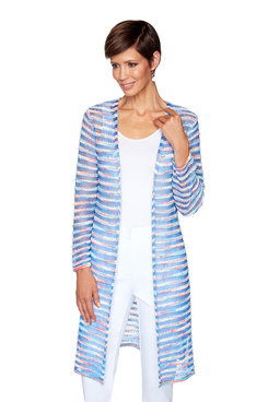 Image: Striped Space-Dye Cardigan