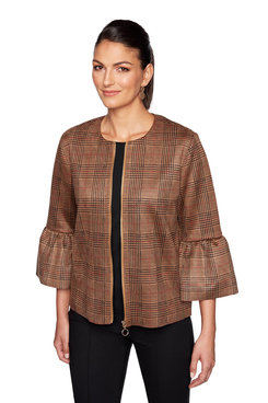 Image: Suede Plaid Jacket