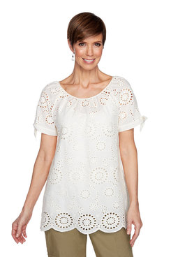 Image: Sunflower Eyelet Top