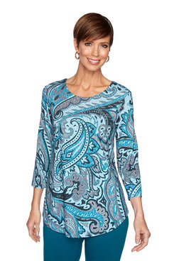 Image: Wild Paisley Knit Top