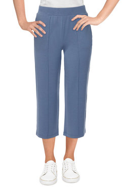 Image: Women's Cozy Pull-On Wide Leg French Terry Sweatpants