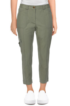 Image: Women's Fly-Front Ripstop Cargo Ankle Pant
