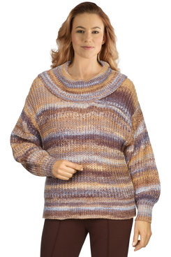 Image: Women's Marled Cowl-Neck Sweater