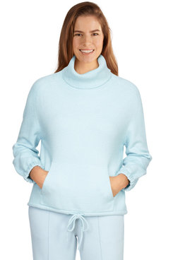 Image: Women's Sparkly Cowl Neck Sweater
