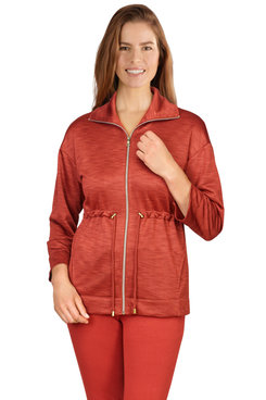 Image: Women's Zip-Front French Terry Jacket