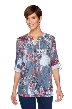 Image: Woven Floral Top
