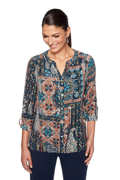 Image: Woven Patchwork Top